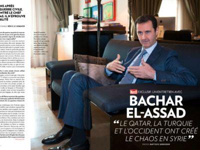 Entretien de Bachar el-Assad avec Paris-Match