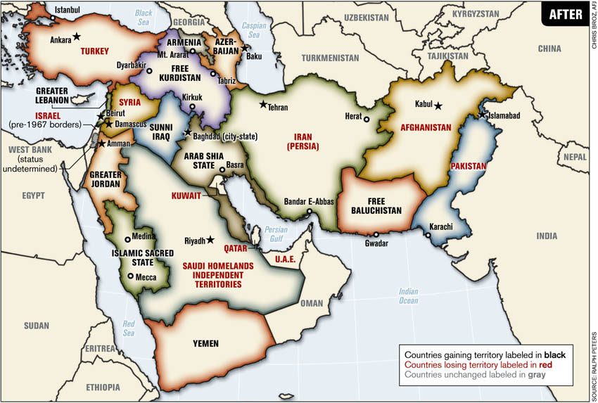 The Great Middle East And The AntiIslamic Moment Of The Clash - Anti fascismos map us