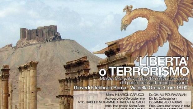 """Mostra-dibattito: """"Libertà o terrorismo"""" (Roma, 5 feb. 2015)"""
