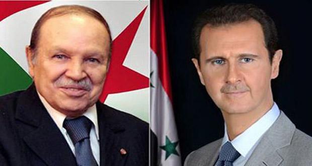 69e anniversaire de l'indépendance de la syrie : Le Président Bouteflika félicite le Président Bachar El-Assad
