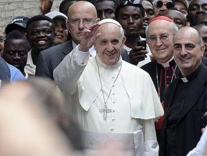 Roma - Papa Francesco al Centro Astalli