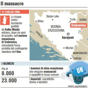 Scheda del massacro di Srebrenica (88mm x 90mm)