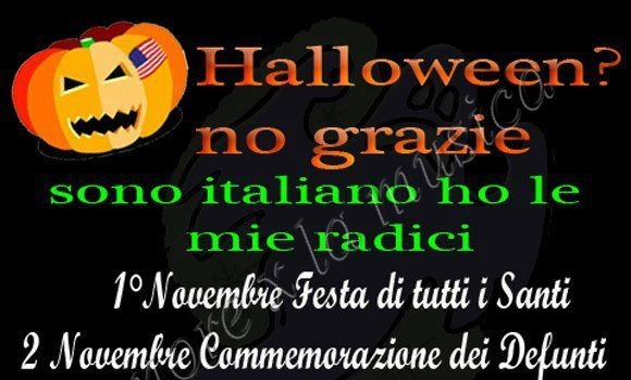 """Halloween è una """"festa"""" di un calendario senza senso"""