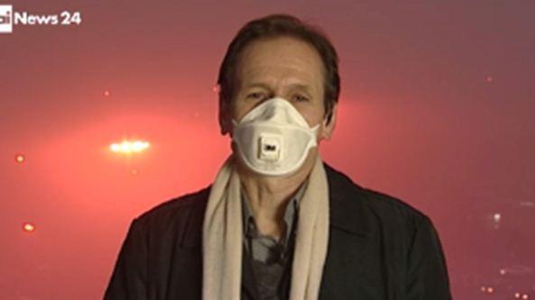 """Claudio Pagliara da Pechino: """"ti conosco… mascherina!"""""""
