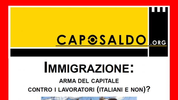 Immigrazione: arma del Capitale contro i lavoratori (italiani e non)? (Bergamo, 5 feb. 2016)