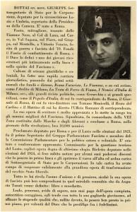 """""""Scheda"""" di Giuseppe Bottai nel volume """"La Nazione operante"""", del 1928"""