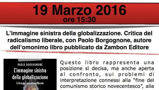 L'immagine sinistra della globalizzazione (Bologna, 19 mar. 2016)