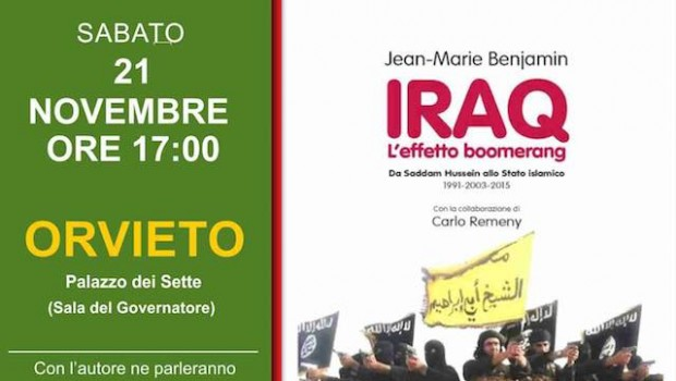 Jean-Marie Benjamin, Iraq. Effetto Boomerang, Editori Riuniti, Roma 2015
