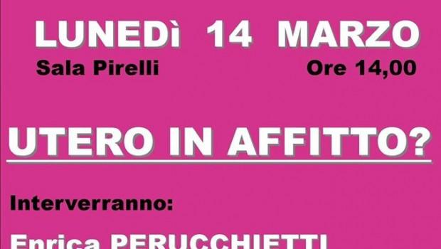 Utero in affitto? (Milano, 14 mar. 2016)