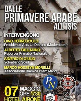 Dalle primavere arabe all'Isis (Grosseto, 7 mag. 2016)