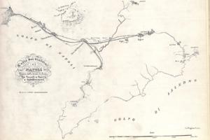 Planimetria della prima ferrovia Napoli-Portici-Torre-Castellammare/Nocera