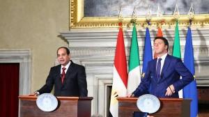 A che gioco cioca Renzi con l'Egitto? Dalla posa non c'è da essere ottimisti...