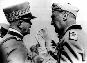 Badoglio e Graziani nel 1935, in Africa Orientale