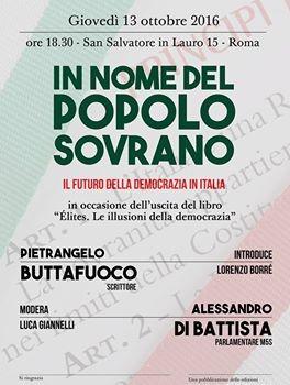 In nome del popolo sovrano (Roma, 13 ott. 2016)