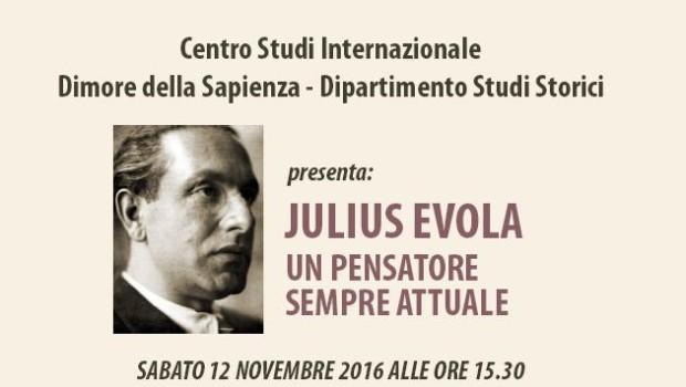 Julius Evola, un pensatore sempre attuale (Brescia, 12 nov. 2016)