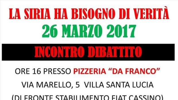 La Siria ha bisogno di verità (Cassino (FR), 26 mar. 2017)