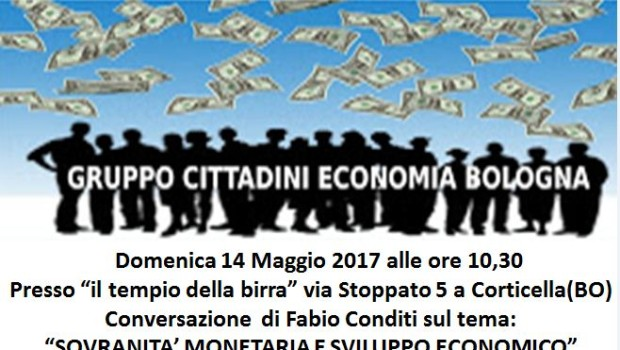 Sovranità monetaria e sviluppo economico (Bologna, 14 mag. 2017)