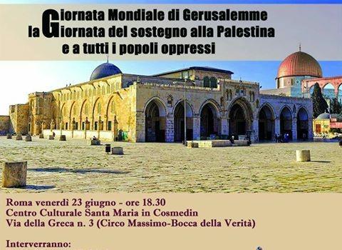 Giornata mondiale di Gerusalemme (Roma, 23 giu. 2017)
