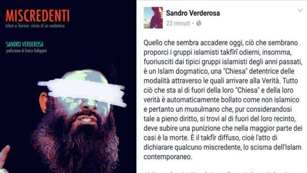 Sandro Verderosa, Miscredenti. Islam e terrore: storia di un malinteso, Circolo Proudhon Edizioni, Roma 2017. La Prefazione di Enrico Galoppini