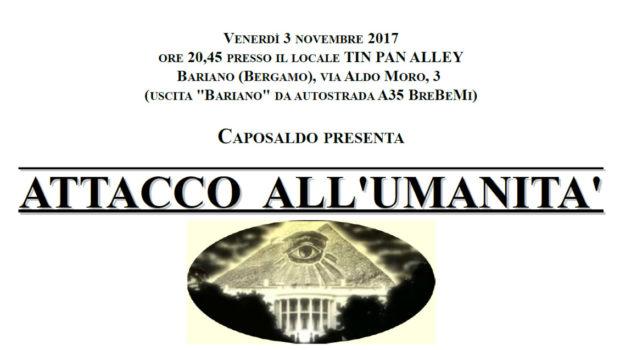 Attacco all'umanità (Bariano (BG), 3 nov. 2017)