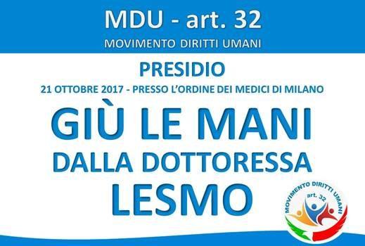 Giù le mani dalla dottoressa Lesmo (Milano, 21 ott. 2017)