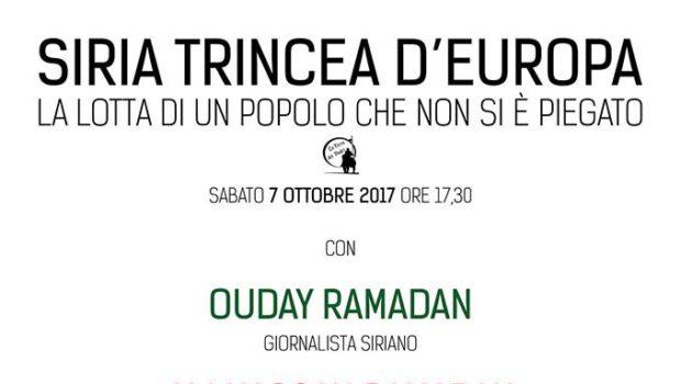 Siria trincea d'Europa (Modena, 7 ott. 2017)