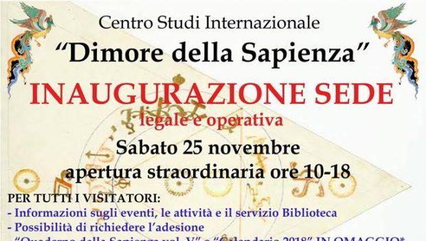 """Inaugurazione sede del Centro Studi """"Dimore della Sapienza"""" (Roma, 25 nov. 2017)"""
