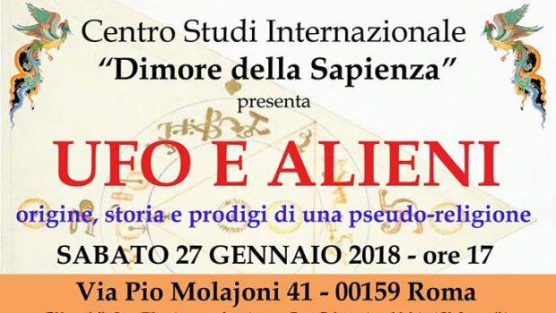 Ufo e alieni (Roma, 27 gen. 2018)