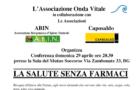 La salute senza farmaci (Bergamo, 29 apr. 2018)