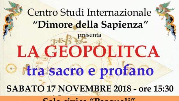 La geopolitica tra sacro e profano (Brescia, 17 nov. 2018)